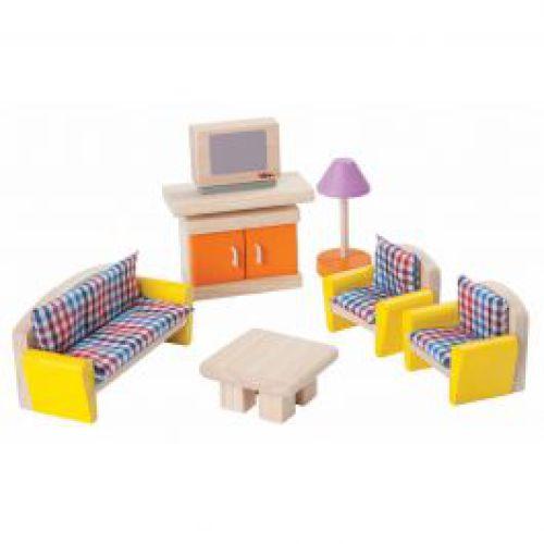Leefkamer voor poppenhuis