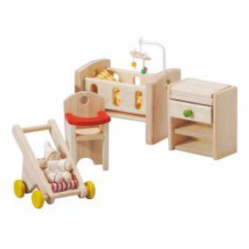 Babykamer voor houten poppenhuis
