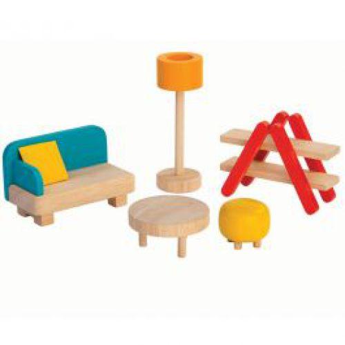 Livingmeubeltjes voor houten poppenhuis