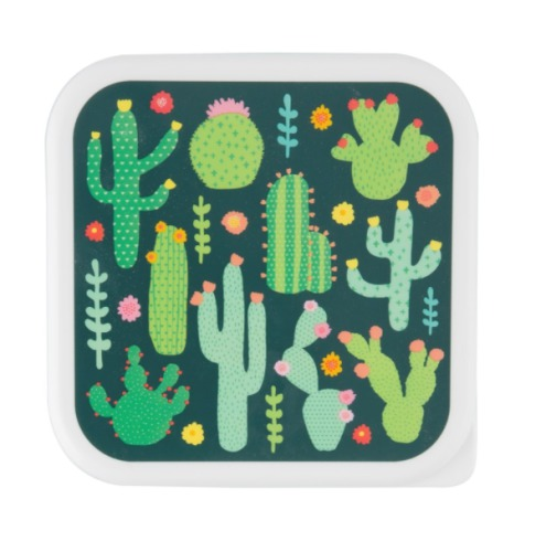 lunchbox vierkant 'Colourful Cactus' - Sass & Belle