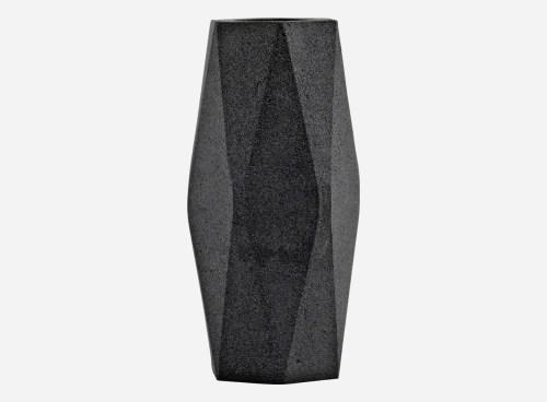 aluminium vaas Geometry Black (hoog) - House Doctor