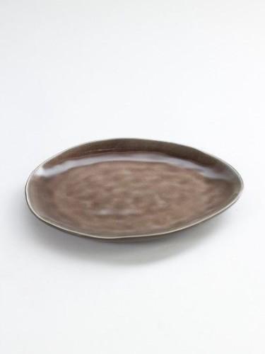 ontbijt- of dessertbord (medium) ovaal bruin - Pure Pascale Naessens
