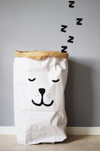 Paper Bag opbergzak 'Sleeping Bear' - Tellkiddo