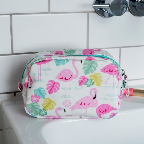 Pennenzak / make-up tas flamingo