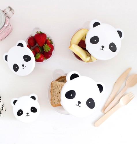 Set van 4 snackdoosjes panda - A Little Lovely Company