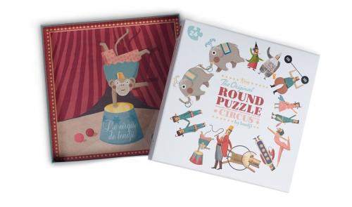 ronde puzzel 'Circus', 24 st. - Londji