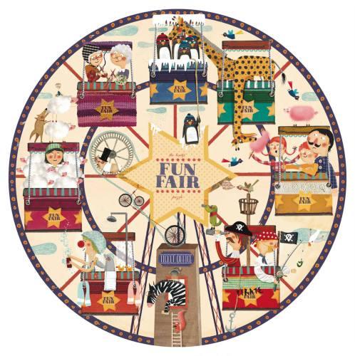 ronde puzzel 'Fun fair'', 36 st. - Londji