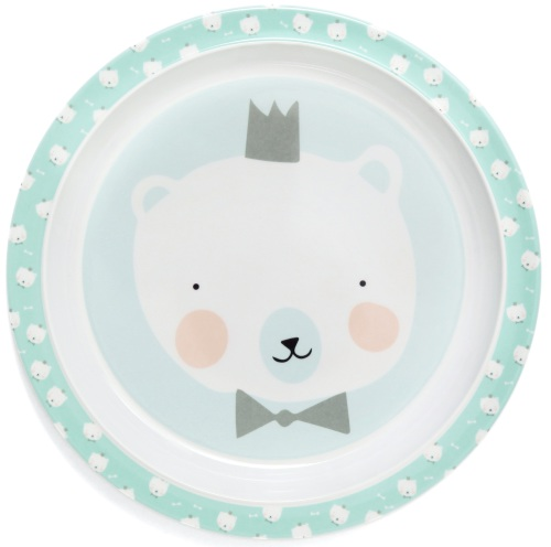 melamine kinderbord Polar Bear Mint - Eef Lillemor