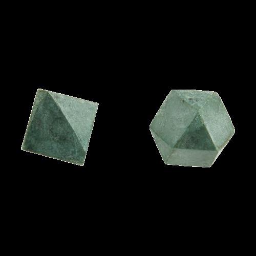 deurknoppen Marmer Cubes Green (set 2 st.) - House Doctor