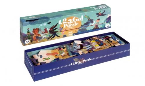 puzzel '1-2-3 GO!', 54 st. - Londji