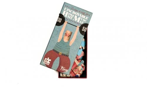 puzzel 'Circus - De Gewichtheffer' - Londji
