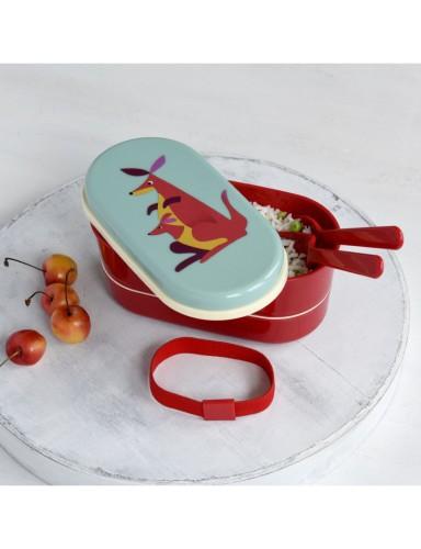 bento box 'Colourful Creatures' - Kangoeroe