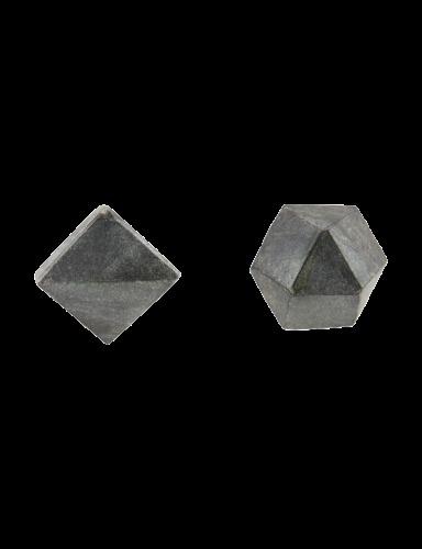 deurknoppen Marmer Cubes Black (set 2 st.) - House Doctor