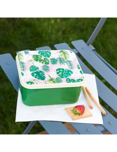 Lunchbox met palmbladeren