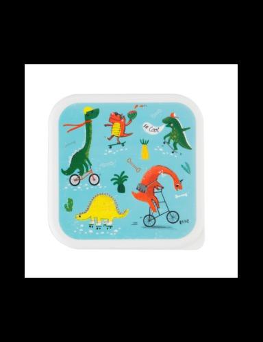 lunchbox vierkant 'Dino Skate Park' - Sass & Belle