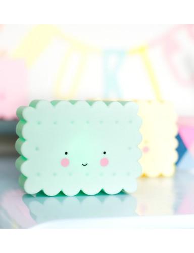 nachtlampje mini cookie mint - A Little Lovely Company