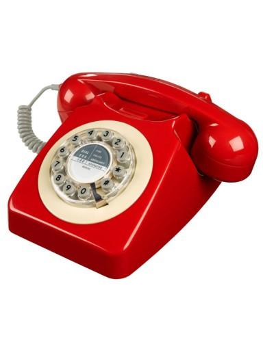 retro 746 telefoon, rood