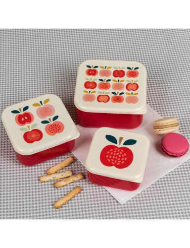 Retro snackdoosjes (set van 3)
