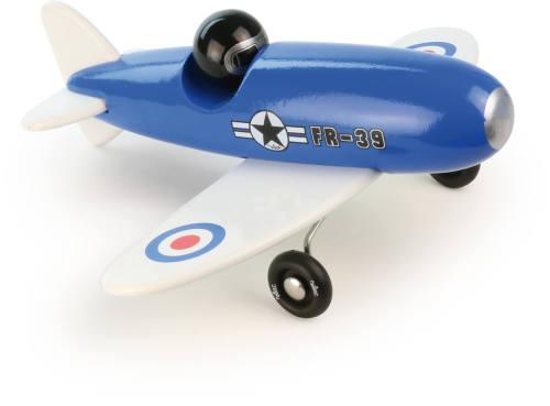 Stuntvliegtuig blauw