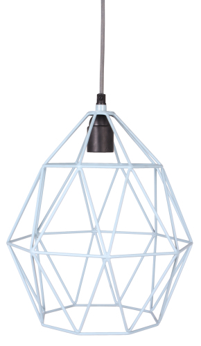 Wire Hanglamp blue