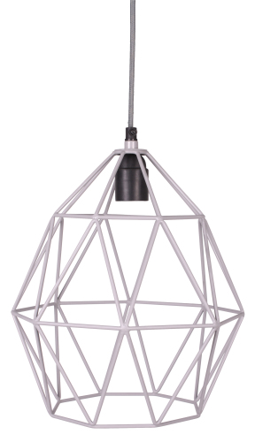 Wire Hanglamp grey