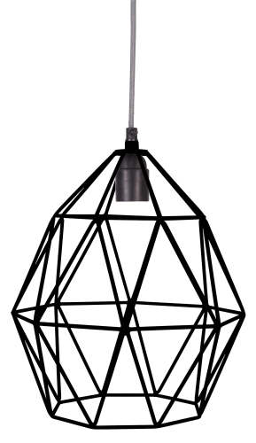 Wire Hanglamp black