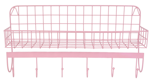 Wire Wallshelf pink