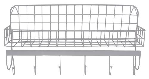 Wire Wallshelf grey