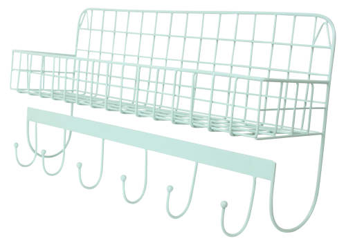 Wire Wallshelf mint