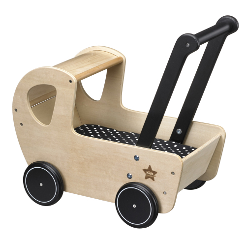 Poppenwagen hout NEO natural