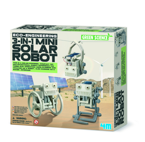 KidzlabsGREENSCIENCE/Eco:3-in-1 Solar Robot mini