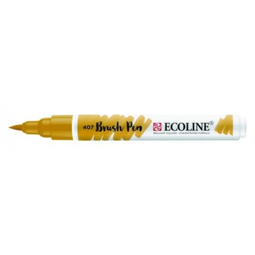 Talens ecoline Brush Pen donker oker