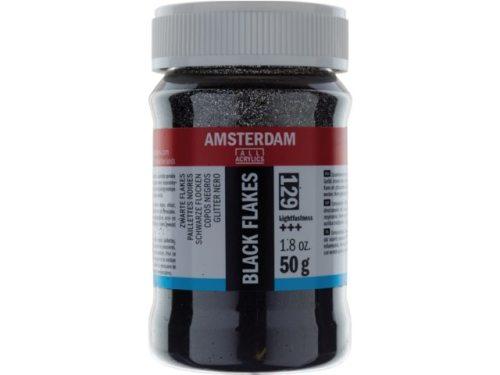Amsterdam glitter flakes zwart