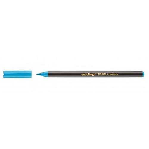 Edding brushpen azuur blauw