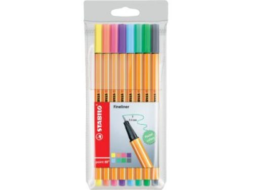 fineliners STABILO point 88- 8 stuks