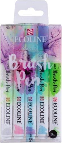 Ecoline brushpen set van 5 pastelkleuren