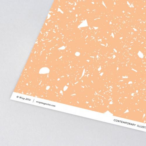 Vel inpakpapier Fragment Soft Coral