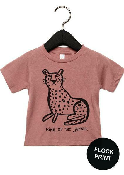 T-shirt Old rose Leopard