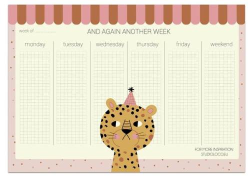 COOL CAT A4WEEKPLANNER 50SHEETS