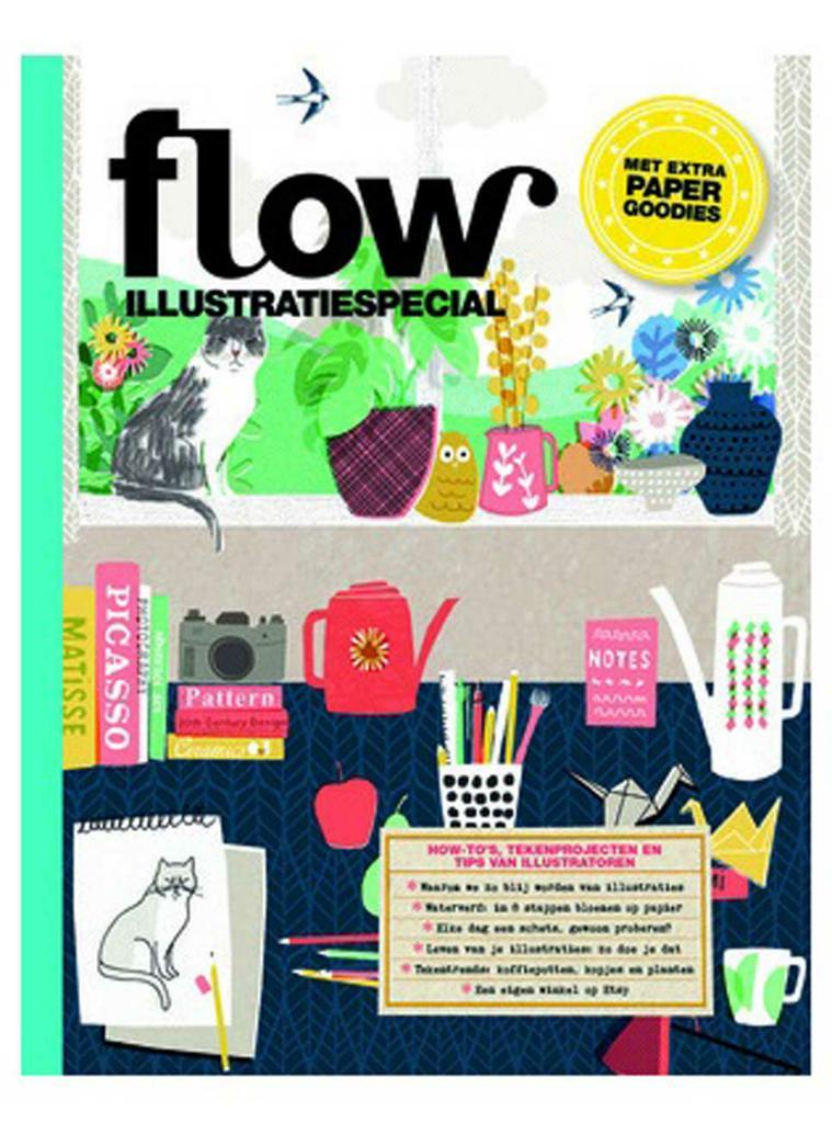 Flow | Illustratiespecial met extra paper goodies - Fée des Fleurs