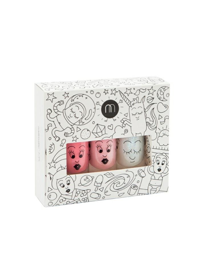 Nailmatic Kids | Nagellak op waterbasis - Cosmos (set of 3) - Fée des Fleurs
