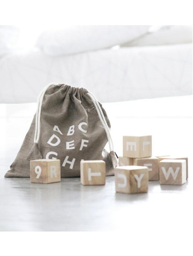 Ooh Noo | Alphabet Blocks - White - Fée des Fleurs