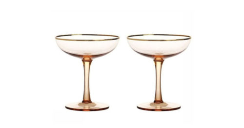 Champagne coupe (set van 2)