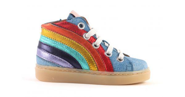 Maa basketters rainbow blauw (maat 22-34)