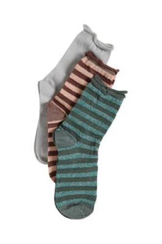 Ichi a Harret striped 3-pack socks