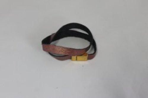 bruine lederebarmband 1cm -magnetische sluiting