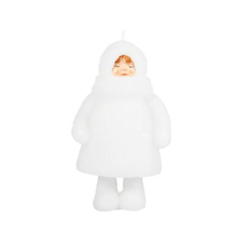 Candle snow doll closed eyes