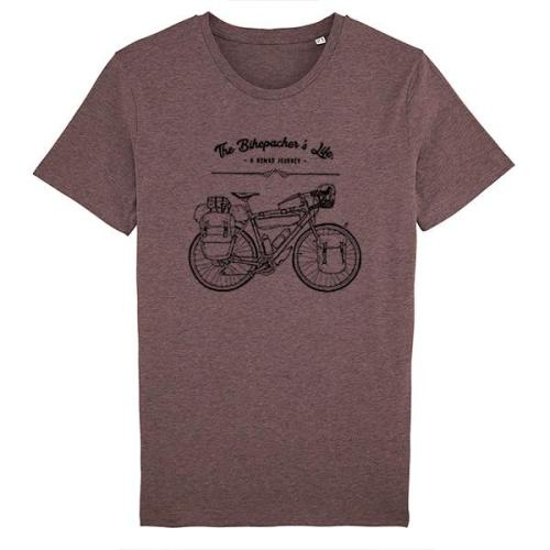T-shirt Bikepacker's life cranberry