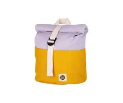 Blafre Roll-top rugzak 1-4j yellow/light purple