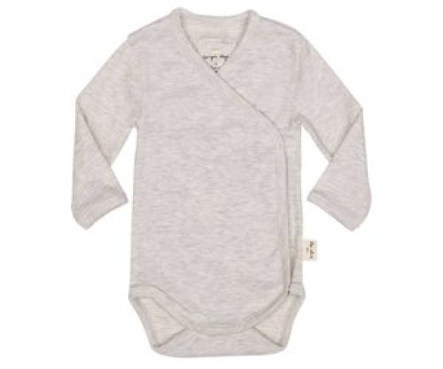 Konges Sløjd Newborn romper light grey melange